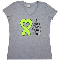 5405f81c3 Lymphoma Ribbon For My Hero Women's V-Neck T-Shirt - Athletic Heather |  Lymphoma Ribbon Shirts, Apparel and Gifts