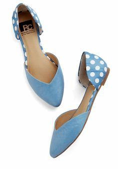 """Sky Blue Flats Sold as the """"Dreaming of Destinations Flat in Sky"""" by BC Footwear on Modcloth. Never worn! Front part of fats have lightened a bit from stock photo in areas ModCloth Shoes Pretty Shoes, Cute Shoes, Me Too Shoes, Chic Chic, Studded Heels, All About Shoes, Fashion Shoes, Shoe Boots, High Heels"""