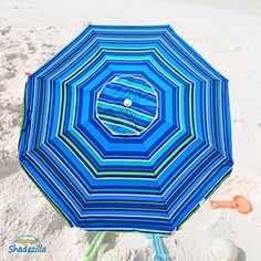 50cd714710dc Platinum 65 ft Polyester 100 UPF Beach Umbrella with Vent Tilt -- Visit the  image
