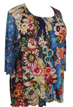 84c5c4106a6 AMMA Design 93 Damzela Tunichand printed plus size tunic in sizes XL, 1X, 2X