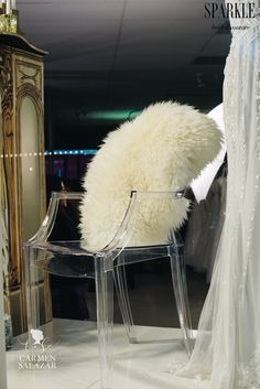 Adding furs and ghost chairs really add style and drama to a theme or display. These pieces help accent the main color and add sophistication to this theme.  @katewhelanevent #katewhelanevents http://katewhelanevents.com/   @FlourishShannon #Flourish http://www.flourishdesigns.com/ #carmensalazarphotography  @carmensalazar http://www.carmensalazar.com/ @partyconcierge1 #thepartyconcierge http://partyconcierge.com/