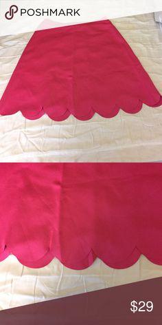 Spense Scallop Hem Skirt Hot Pink, length 22 inches Spense Skirts