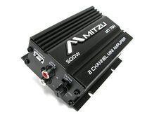 Mitzu Mit-75n 2 Channel 500 Watts Car and Motorcycle Audio Amplifier amp by Mitzu. $39.99. The Mitzu MIT-75N black color 2 Channel 500 Watts car or motorcycle amplifier is a small amplifier able to reproduce good sound.  This amp can be used with motorcycles, cars, ATVs, golf carts, or anywhere where you need a small car audio amplifier to help you have a good listening experience.  You can use an iPod, MP3 player, car stereo or any other audio equipment as the aud...