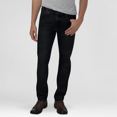 Dickies Men's Slim Fit Straight Leg 5-Pocket Pants Black 36X34