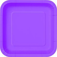 16 x 7\  Pretty Purple Square Paper Plates  sc 1 st  Pinterest & 16 x 7\