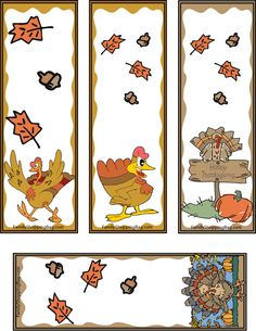 Turkey Bookmarks, Thanksgiving, Bookmarks - Free Printable Ideas from Family… Happy Thanksgiving Images, Thanksgiving Blessings, Paper Bookmarks, Bookmarks Kids, Bookmark Images, Bookmark Ideas, Library Inspiration, Sharpies, Crafts