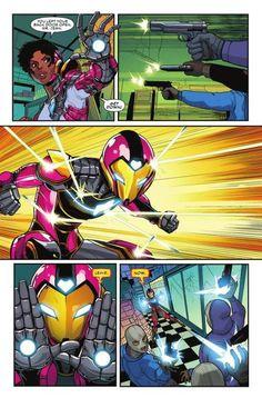 Marvel Comic Universe, Comics Universe, Marvel Art, Marvel Heroes, Marvel Comics, Drawing Superheroes, Comic Book Superheroes, Iron Heart Marvel, Iron Man Fan Art