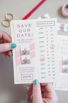 invitation mariage calendrier