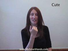 cute - ASL sign for cute