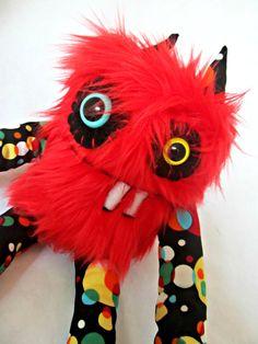 Plush Monster Cute Monster CECIL handmade by PinkSprinklesPlush, $18.00