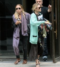 Love the Olsen accessorizing -- especially the one on the left. Ashley Olsen I think?