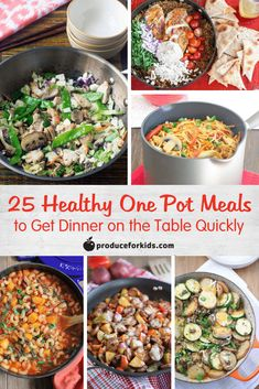 25 Healthy One-Pot Meals - get dinner on the table quickly and will little-to-no mess with these one-pot meals! Pastas, soups, stir-frys and more. health activities health care health ideas health tips healthy meals Healthy One Pot Meals, Healthy Cooking, Healthy Eating, Healthy Lunches, Healthy Dishes, Healthy Kids, Carpaccio, Easy Weeknight Dinners, Healthy Dinner Recipes