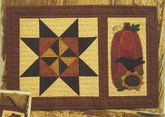 Primitive Folk Art Quilt/Wool Applique Pattern:  By Thy HANDS - SEPTEMBER - Monthly Pattern Series BOM. $6.00, via Etsy.