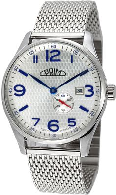 Hodinky PRIM W01C.13005.K - Republika - K  Klasické mechanické hodinky s automatickým natahováním. Pouzdro je vyrobeno z ušlechtilé nerezové oceli 316L, dále upraveno leštěním až do vysokého lesku v kombinaci s broušenými boky. Použit je nový multifunkční kalibr automat 8218 který v sobě skrývá 21 rubínů a umožňuje natáhnutí ocelovou korunkou. Pouzdro uzavírá dno hodinek šesti šroubky s průhledem z minerálního skla, které je rovněž vyrobeno z ušlechtilé nerezové oceli 316L. Mesh, Watches, Silver, Accessories, Money, Clocks, Clock, Fishnet, Ornament