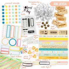 FreckledFawn.com OHDEERME JUNE 2014 Exclusive Embellishment Paper Crafting Kit Club featured at scrapclubs.com #freckledfawn #embellishments #kitclub #scrapclubs