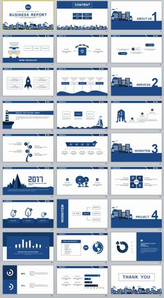 27+ Blue simple business report PowerPoint Templates
