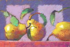 Liz Kenyon teaches a very popular Pastel class demonstrating techniques for creating the most alluring textures and subjects. Pastel Landscape, Still Life Fruit, Painting Still Life, Pastel Art, Deco, Food Art, Acrylic Paintings, Pastel Paintings, Art Paintings