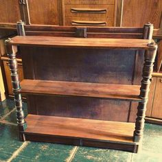 Another #custom #bookcase #upcycled from #victoran #englishwalnut #wood ~ available at #indiastreetantiques in #littleitalysd #littleitalysdshop #ilobsterit