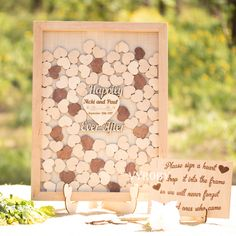 Rustic wedding decor ideas Wood wedding guest book Happily ever after Wedding guestbook alternative Heart drop box Burlap guest book frame by Vyroby. The exclusive guestbook is handmade for you. Price from $ 41.65 #beige #burlap #guestbook #weddingideas #wedding #happilyeverafter #vyroby #weddingdecoration