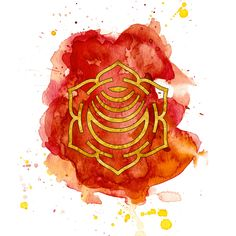 Sacral Chakra Watercolour Painting - 8x8 inch by PickledCherryblossom on Etsy