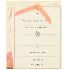 roses wedding invitations - box of 10 from Paperchase