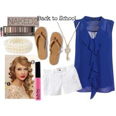 Cute summer outfit...not so much as a back to school outfit for a teacher.  ;)