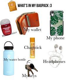 School Bag Essentials, Travel Essentials For Women, Travel Necessities, Road Trip Essentials, Travel Packing Checklist, Road Trip Packing List, Road Trip Hacks, Packing Tips, Middle School Supplies