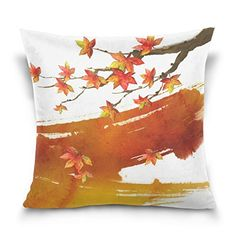 Cotton Velvet Decorative Square Throw Pillow Cover Pillowcase Cushion Cover 20x20 InchesThe Maple Leaf on Both Sides ** This is an Amazon Affiliate link. See this great product.