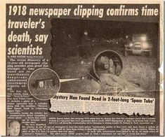 newspaper photo, appeared in our friend Luc Sante's book Evidence Unexplained Phenomena, Unexplained Mysteries, Ancient Mysteries, Aliens And Ufos, Ancient Aliens, Weird Facts, Fun Facts, That's Weird, Strange Facts