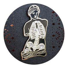 Hey, I found this really awesome Etsy listing at https://www.etsy.com/listing/387027542/anatomy-of-venus-enamel-pin-glitter