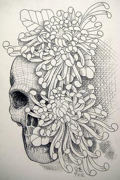 fondo para tatuaje de crisantemos - Buscar con Google