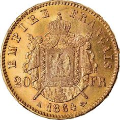 Napoléon IIICoin condition : MS(60-62), Country : France, Mint name : Paris, Catalog Initials : KM, Mint Mark : A, Composition : Gold, Coinage Type : Decimal Coinage, Fineness : 0.90000000000000002, Denomination : 20 Francs, Theoretical Coin Weight Entire (gr) : 6.4516, Actual Weight Entire (oz) : One Coin, Copper Nickel, France, Strasbourg, Paris, Coin Collecting, Silver Coins, Napoleon, Ruler