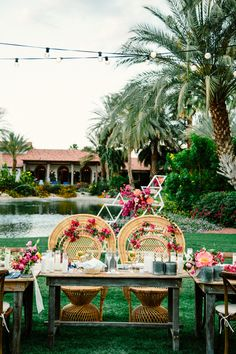bohemian sweetheart table - photo by The Melideos http://ruffledblog.com/bougainvillea-estate-wedding
