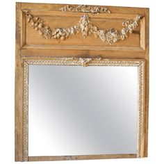 18th Century French Trumeau Mirror the Town of Senlis | From a unique collection of antique and modern trumeau mirrors at https://www.1stdibs.com/furniture/mirrors/trumeau-mirrors/