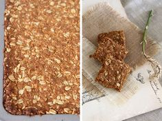 "South African ""crunchies"" a traditional oatmeal cookie bar (add cinnamon) Yummy Treats, Sweet Treats, Yummy Food, Crunchie Recipes, Baking Recipes, Cookie Recipes, Kos, South African Recipes, South African Food"