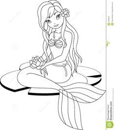 kleurplaat zeemeermin realistic mermaid coloring pages download ... - Coloring Pages Mermaid