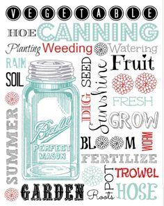#masonjar free printable #summer #garden from Shasta29, featured @printabledecor1