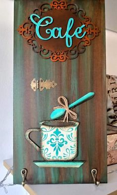 Diy Wood Projects, Art Projects, Play Wood, Coffee Nook, Wooden Cutouts, All Things New, Coffee Signs, I Love Coffee, Diy Home Crafts