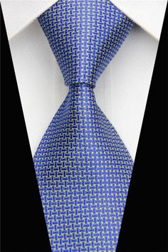 Designer Ties For Men Jacquard Woven Classic Silk Tie For Business Wedding Party
