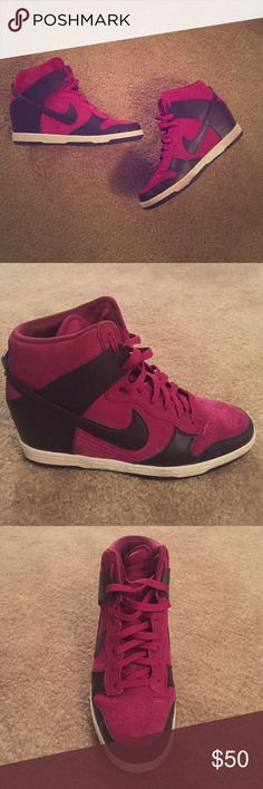 👠Nike Dunk Sky Hi Worn once, Nike wedge sneakers. super comfortable. Size 10. Perfect with jeans or leggings for errands! Original box included Nike Shoes Athletic Shoes