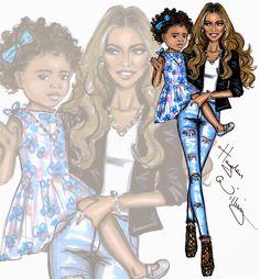 Hayden Williams Fashion Illustrations: Bey & Blue by Hayden Williams