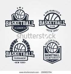 Collection Of Sport Basketball Badge Logo Templates, T-Shirt Graphics
