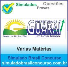 Bom dia Concurseiros, estamos com novos simulados do concurso da Prefeitura de Guaraí (TO).  Descubra!!! Compartilhe!!! Curta!!!  Muito Obrigado e Bons Estudos, Simulado Brasil Concurso  http://simuladobrasilconcurso.com.br/  #simuladobrasilconcurso, #questoesGUARAI, #provasGUARAI, #simuladosGuarai
