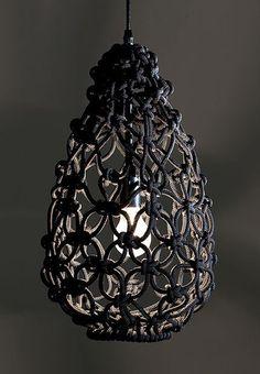 macrame lamp. actually pretty cool