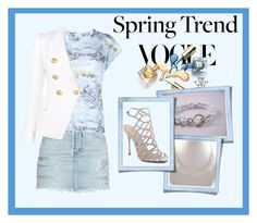 """Spring Trend"" by seadbeady ❤ liked on Polyvore featuring Yves Saint Laurent, Balmain, Schutz and wardrobebasics"