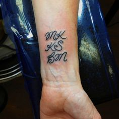 My 1st tattoo~kids' first & middle initials  7/22/2012