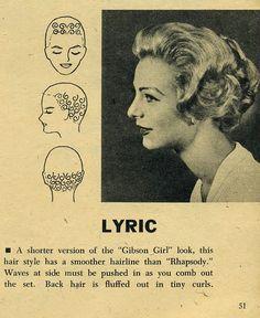 Pin Curl Setting Patterns, 1958