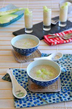 Coconut Tapioca Pearl Dessert 椰汁蜜瓜西米露 -- A very popular Asian dessert.  Super easy to prepare and refreshing. A vegan friendly recipe.