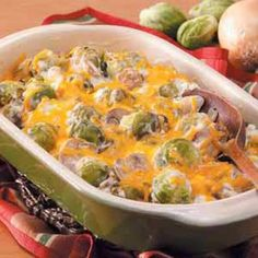 Creamy Brussels Sprouts Bake Recipe.