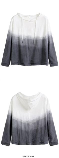 Grey Ombre Hooded Sweatshirt                                                                                                                                                                                 More